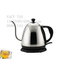 Wholesale 1 L small electric kettle Staniless steel water pot Electric coffee pot with long spout base on GS Standard VDE plug