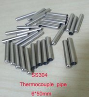 Wholesale 6 mm High Quality SS304 One End Closed Stainless Steel Pipes Thermowell Thermocouple protection pipe