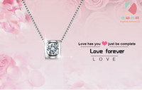 Wholesale lingdong Beautiful love forever pendant new Sterling Silver Chain Necklace Jewelry box gift for Valentine s Day