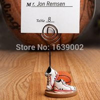 basketball party themes - 2016 Unique Basketball Themed shoe Place Card Holders Sport Theme party favor
