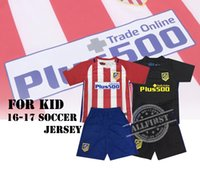 atletico madrid youth - 16 Kids Soccer Kit Atletico Madrid Home Away Youth Soccer Jersey GRIEZMANN F TORRES GODIN KOKE GABI football shirt with shorts