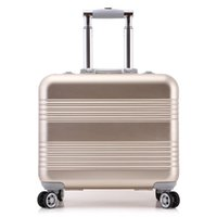 aluminium trolley - inch Women Colorful Bording Luggage Carry On School Bags Suitcase Magal Trolley Bags Metalic Aluminium Draw Bar Box Spinner