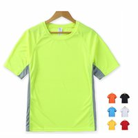 Wholesale New Fashion Sport T Shirt Big yards High Wicking Quick Drying Short Sleeve Lightweight Splice bright colors Sizes