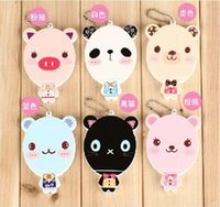 Wholesale Gift cartoon small mirror animal querysystem style portable makeup mirror small comb set g