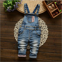 Wholesale Newborn Baby Girls Boys Jeans Pants Overall Trousers Spring Fall Infant Newborn Fashion Long Pants For Bebe Girls