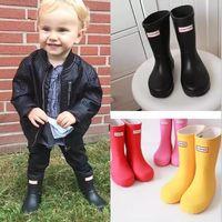 baby boots winter waterproof - 1 Matte Rain Boots Waterproof Baby Kids Wellies Hunters Boots children s Rain Boots High cm Boot Rainboots Hot Sale