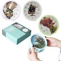 Wholesale PrettyBaby hot sale high quality alarm clock cartoon figures Zootopia styles the creative round clock kids gift Lot