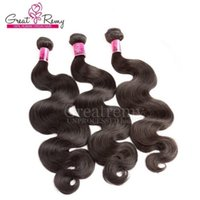 amazing promotions - Big Promotion Cheap Brazilian Hair Body Wave Hair Weave Weft Amazing A Dyeable Natural Color Quality Human Hair Extensions Greatremy