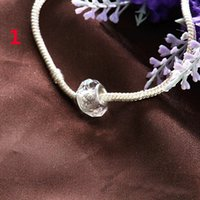 Wholesale FASHIONE color Faceted Crystal Glass pandora Rondelle Big Hole Beads Fit European Charm Bracelet Jewelry DIY