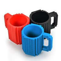 Wholesale 2016 New Hotest Drinkware Building Blocks Mugs DIY Block Puzzle Mug oz Piece Build On Brick Creative Mug Lego Type Coffee Cup