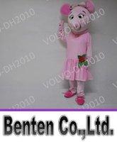 adult ballerina halloween costumes - VO13 Angelina Ballerina Pig Mascot Costumes Adult Character Fancy Dress Costumes Corporate School Team Mascots For Halloween Christmas