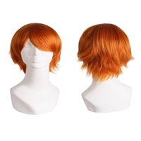 Cheap Hot Sales Harajuku Anime Wig Cosplay Short Straight Heat Resistant Synthetic Hair Wig Wigs for Japanese Anime Costume Party YD0108