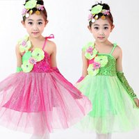 ballet dance competition - Girls Sequined Jazz dancing Dress KDIS Ballet dancewear outfits Children s Party Competitions dance costumes