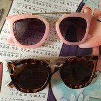 al por mayor gafas de sol del cabrito-Las gafas de sol antirreflexión del diseñador de la marca de fábrica diseñan las gafas de sol de los cabritos de los cabritos de las muchachas de las muchachas del espejo del marco del marco del oro para las muchachas 2016 UV400 al por mayor