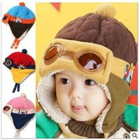 animal pilot hats - 4 Styles Warm Flight Cap Hat Beanie Pilot Aviator Cap Cool Baby Boy Girl Kids Infant Winter Fleece Warm Animal Bear Hat