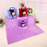Wholesale Lovely cartoon car pillow blanket car quilt dual use for car support cushion and car Blanket open size cm High Quality Free Ship