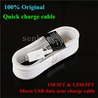 Cheap 100% Original 1M 1.5M NOTE 4 Micro USB Data Sync Charger Cable With Black Tag for Samsung Galaxy S3 S4 S6 S7 Edge Note 2 4 5 Edge