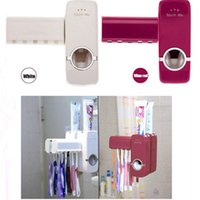 Wholesale White Household Automatic Auto Toothpaste Dispenser w Free Brush Holder