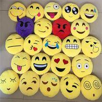 Wholesale Multi styles cm plush pillow cute Emoji Smiley Pillows Cartoon poop Cushion poop Pillows Yellow Round Stuffed Pillow Plush Toy B998