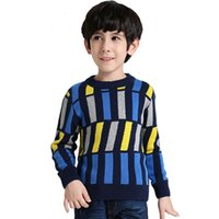 Wholesale The new Spring boys cotton striped pullover sweater