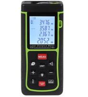 Wholesale m Handheld Digital Laser distance meter Bubble level Rangefinder Range finder Tape measure Area Volume M Ft in Tool
