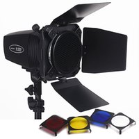 Wholesale Photo Studio Mini Strobe Monolight Lighting Kit v Flash Light Light Barn Door Honeycomb Grid Gel lighting kits PSK180D1
