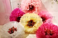 backdrop paper - Giant Tissue Paper Party Decoration Pom Poms Flower Balls Honeycomb Birthday Party Wedding Stage Backdrop