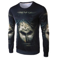 animal planet t shirts - 3D Planet of the Apes printing men shirts Animal T shirt fashion mens long sleeved T shirt