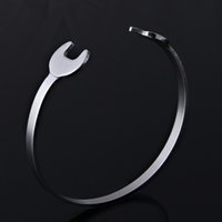 Wholesale Top Quality Motor Biker Bracelet Punk Spanner Bracelet Stainless Steel Polishing For Women Men Party Gift