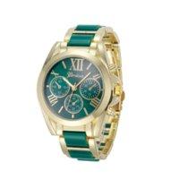 Newly Design Femmes Genève chiffres romains plaqué or alliage montre-bracelet à quartz rouge vert 160406 Cheap montre en plastique quartz