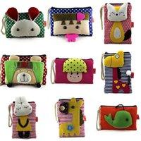 2016 Nouveau Hot Multifunction Girls Coin sacs à main d'embrayage 28 Styles Carré Canvas Women Mini portefeuilles Pouch Double Zipper Pockets