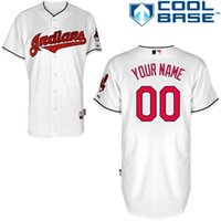 Wholesale Cleveland Indians custom jersey customized jerseys customizing shirt custom made shirts embroider stiched top quality customize stich tops
