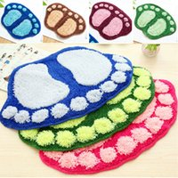 Wholesale Absorbent Soft Plush Carpet Bath Bathroom Bedroom Floor Shower Mat Rug Non slip