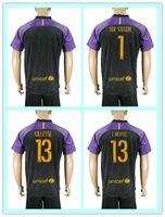 barcelona goalkeeper - Best soccer Jersey TER STEGEN Cillessen C BRAVO Barcelona Neymar JR Goalkeeper Uniforms Kits Purple Black Jerseys