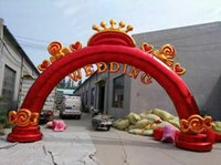 Wholesale The new inflatable arches wedding marriage anniversary flower door sweetly gas arch props