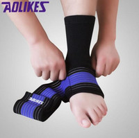ankle strain - 2016 professional sports ankle strain wrapping bandages elastic ankle brace protector for fitness running