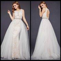 ba beaded - 2017 Elegant Sleeveless Evening Dresses Scoop Neckline Illusion Lace Appliques Beaded Embellished Prom Gowns Crystal Beaded Sash Key hole Ba