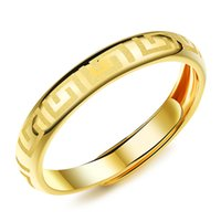 Wholesale New Arrival Fashion Male Jewelry K Gold Plated Accessories Classic Frosted Great Wall Pattern Design Man Trendy Ring AKJ040