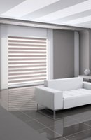 Wholesale Custom Made Polyester Translucent Roller Zebra Blinds in Light Grey Window Curtains for Living Room Colors are Available