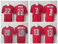 best mike - Stitched jerseys Best quality jersey Men s Jameis Winston Mike Evans Doug Martin elite jersey White and Red Size M XX