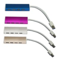 aluminum expansion - Aluminum High Speed USB Mini USB Hub Portable Ports Port Gbps Charging Expansion Splitter Adapter For PC