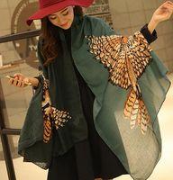 Wholesale New arrive female short tassels twill cotton shawl stylish print scarf Air conditioning Pashmina