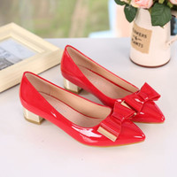 Wholesale 2016 new spring shallow mouth thick with small black women shoe code shoes low flat shoes Merchandiser
