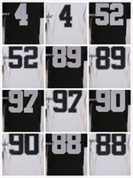 Wholesale Men Football Jerseys Derek Carr Mario Edward Amari Cooper Khalil Mack Dan Williams Cheap Jerseys Embroidery Logo Mix Order