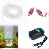 Wholesale New In1 Ultra Silent High Out Energy Efficient Aquarium Air Pump Fish Tank Oxygen AirPump With Air stone M Silicone Tube