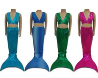 Wholesale Swimmable Mermaid tails Swimming Costumes dress cosplay costume kids for girl fancy dress swimsuit swimming suit