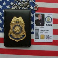 Wholesale Fast and the Furious series of US diplomatic bureau DSS metal badges medals ID holder card package documents package