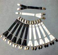 adjustable garters - New Fashion Adjustable Metal Duckbill Clip Buckle Garters Y Type Elastic Leg Garter Straps Belt Clips for Thigh Stockings