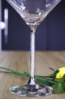 apple martini - 2016 New Beer Skull Customed Pieces Lead Free Crystal Wedding Cocktail Wine Glasses Stem Filled With Rhinestones Martini