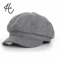 Wholesale Super warm High Quality Fashion Artist Wool Women Beret Hat For Women Cap Female Cap Casual Dome Bare Chapeu Feminino Boina